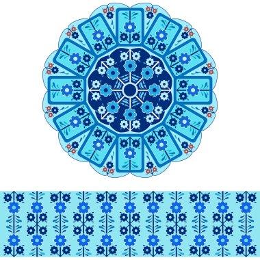 oriental ottoman design colored version