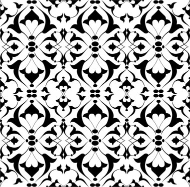 black ottoman decorative background version