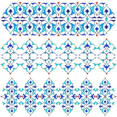blue oriental border and ornament fifteen
