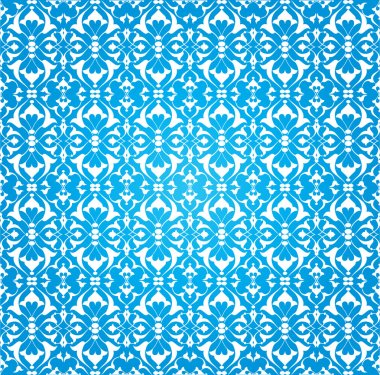 blue ottoman decorative background