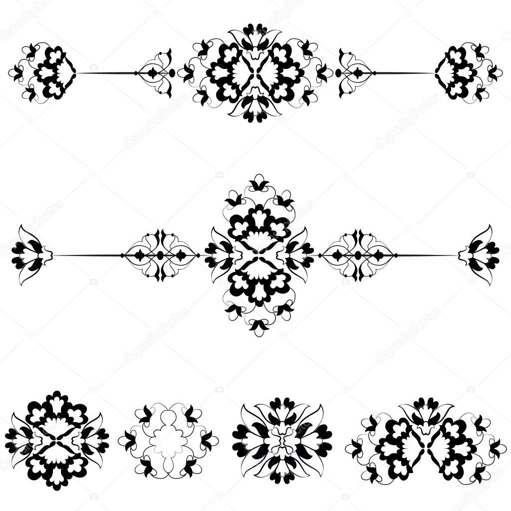 Ottoman motifs design series with seventeen