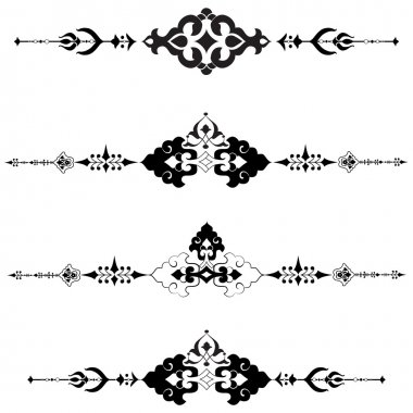 Ottoman motifs design series with thirty