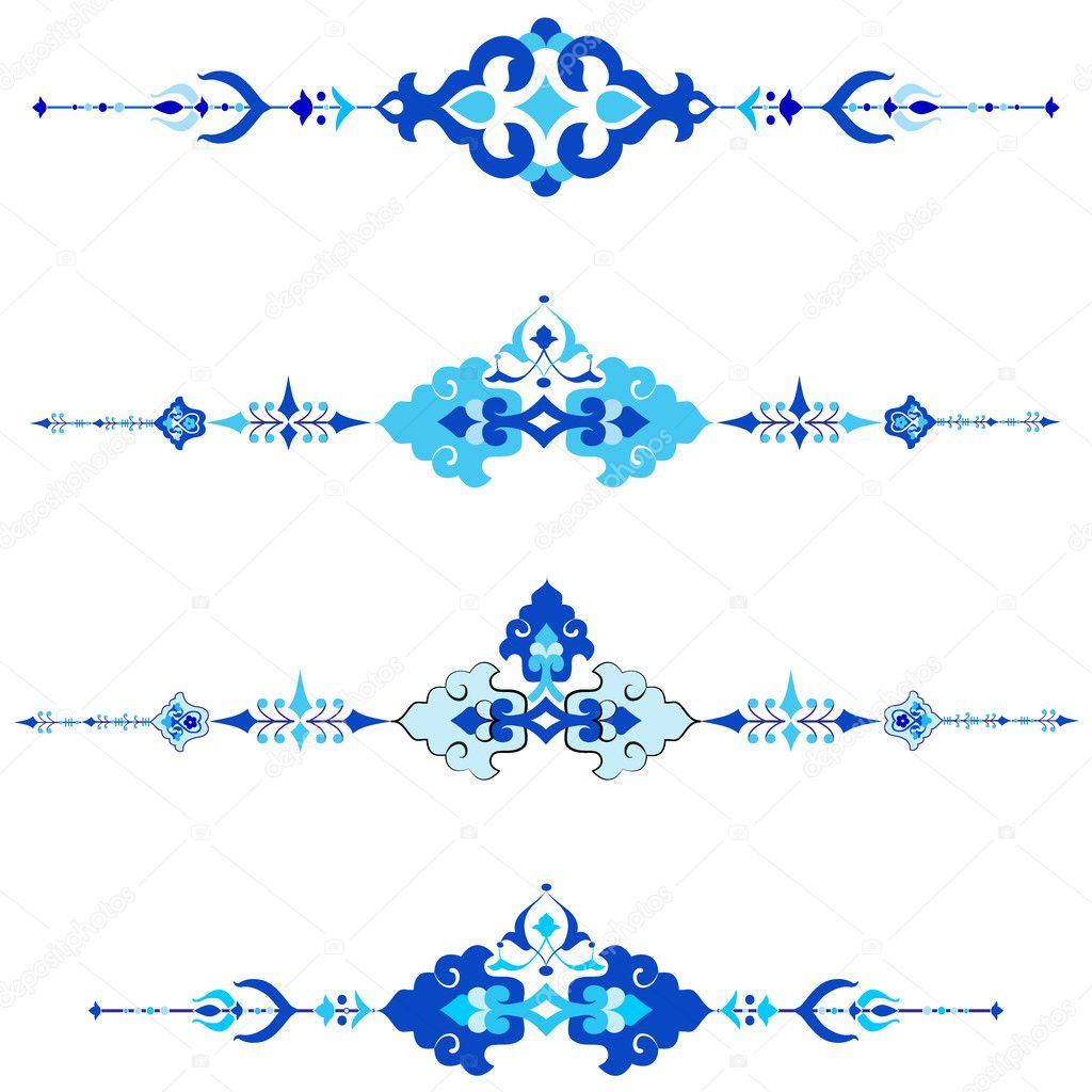 Ottoman motifs design series with thirty version