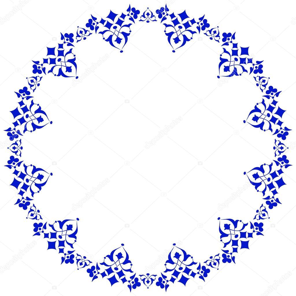 Rahmen mit Blumen der osmanischen Kunst vier — Stockvektor ...