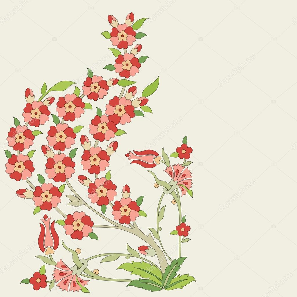 Ottoman art flowers eighteen