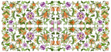Ottoman motifs design series seventy six