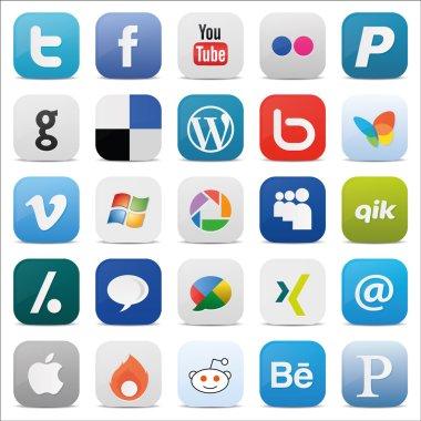 Social media Icons Square icon