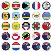 Americké vlajky měkká kulatá tlačítka