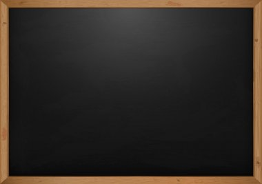 Black Chalkboard With Spot Light And Wooden Frame