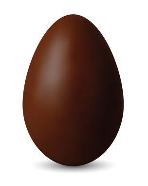 Brown Chocolate Easter Egg - Vector Illustration For Design