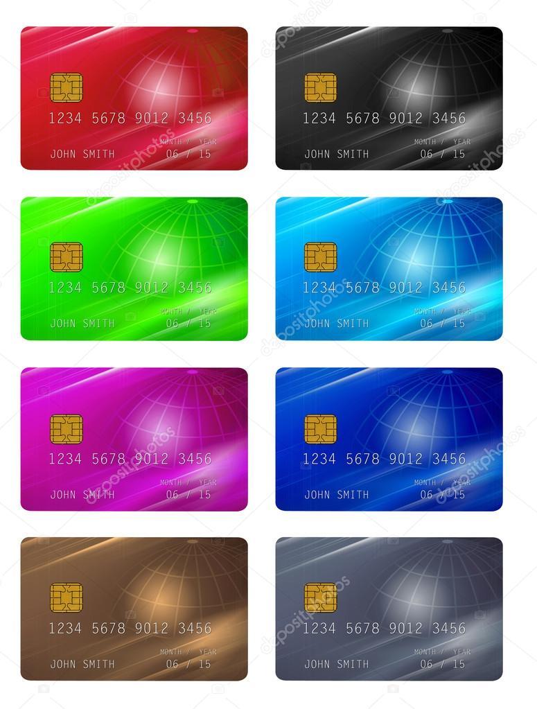 plantillas para tarjetas de crédito o membresía — Foto de stock ...