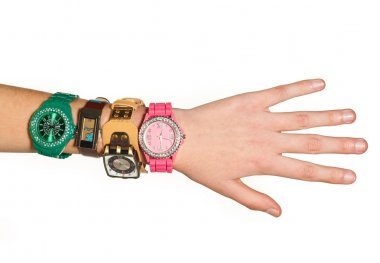 woman hand with watches