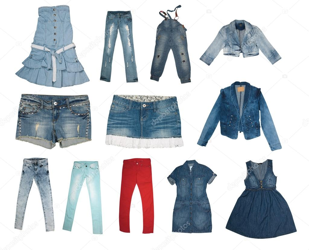 99e25b3328d Коллекция различных типов джинсов — Стоковое фото © bertys30  19724707