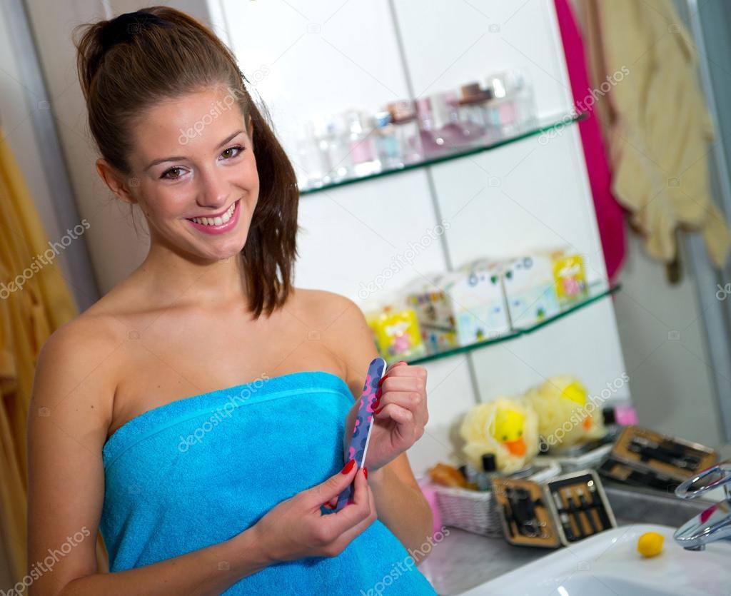 teen girl in bathroom — stock photo © bertys30 #22734047