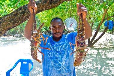 Traditional caribbean  food preparation