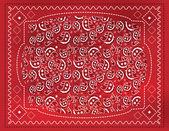 Fotografia fazzoletto paisley rosso