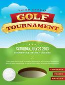 Gestaltung der Einladung für Golfturniere