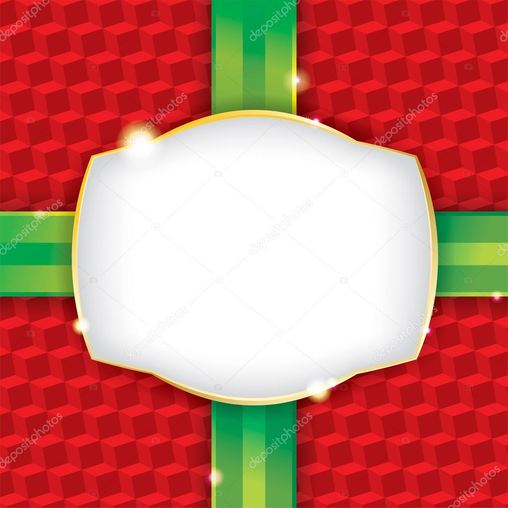 envoltura de papel regalo de Navidad — Vector de stock ...