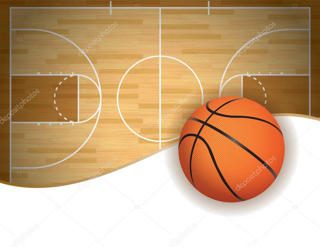 fondo de cancha y pelota de baloncesto vector de stock basketball court vector free download basketball court vector art