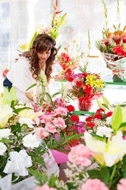 Woman  in  flowers marke