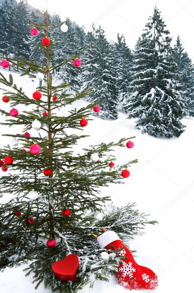 Christmas tree with barballs