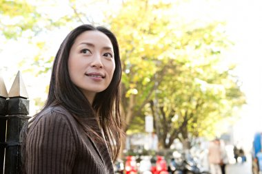 Attractive Japanese tourist woman