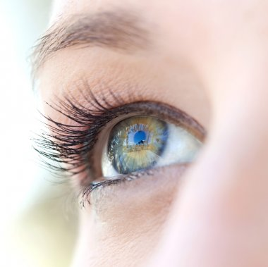 Caucasian  woman eye