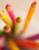 Fotografie Bunch of colorful school art pencils