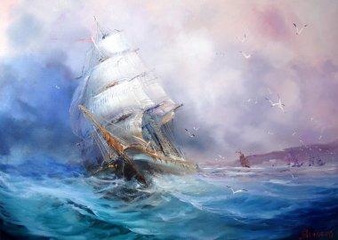 Seascape sea breeze