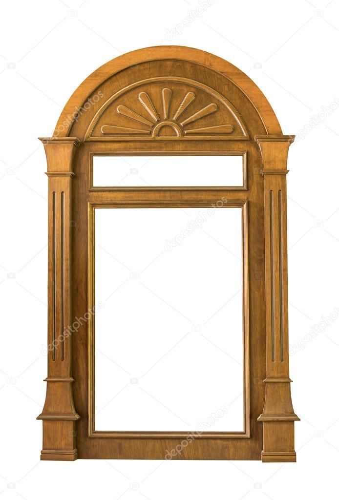 Holz Fensterrahmen — Stockfoto © manusy #32042483