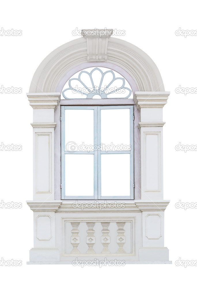 Classic window frame isolated on white — Stock Photo © manusy #48165511