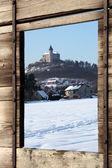 Fotografie pohled z okna na Zimní krajina