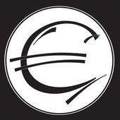Euro ikona vektorové ilustrace