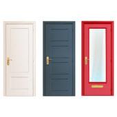 Fotografie Sammlung Türen isoliert auf weiss. Vektor-design