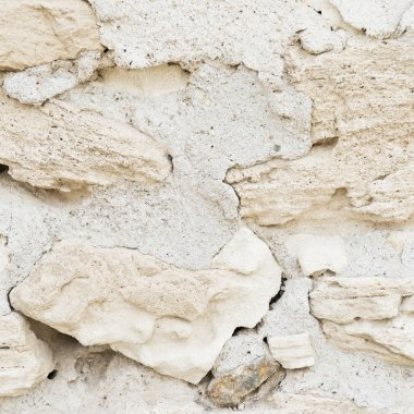 White stone background.