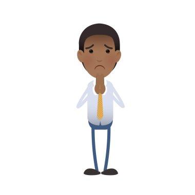 businessman pleading over white background. Vector design