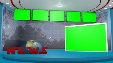 Television stage chroma key