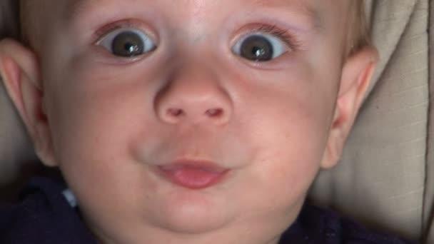 Baby boy staring at the camera