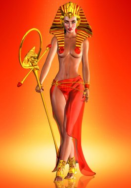 The Pharaoh Queen. Power Enhanced by Beauty and Fashion.