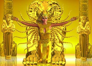 A Golden Egyptian Temple
