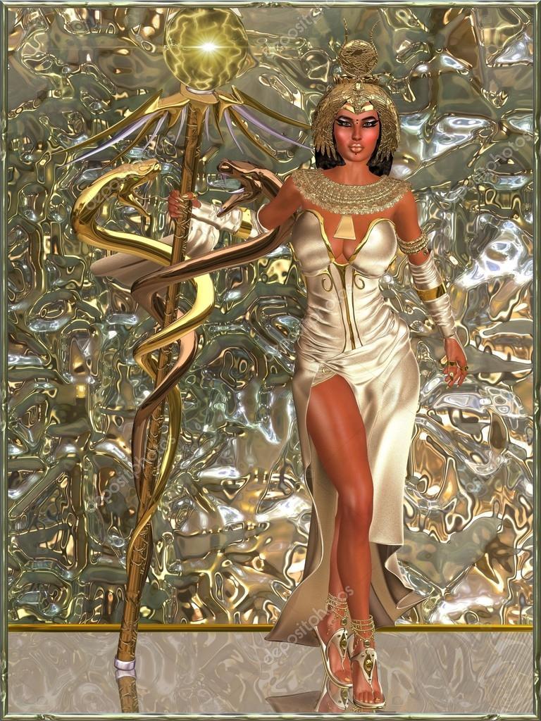 6ec4343813 Angolszász istennő - egy jogart eszköztartási két arany kígyó és a  misztikus hatalom gömb ő az igazság Fellegvár, és ő minden ember lakik. egy  absztrakt ...