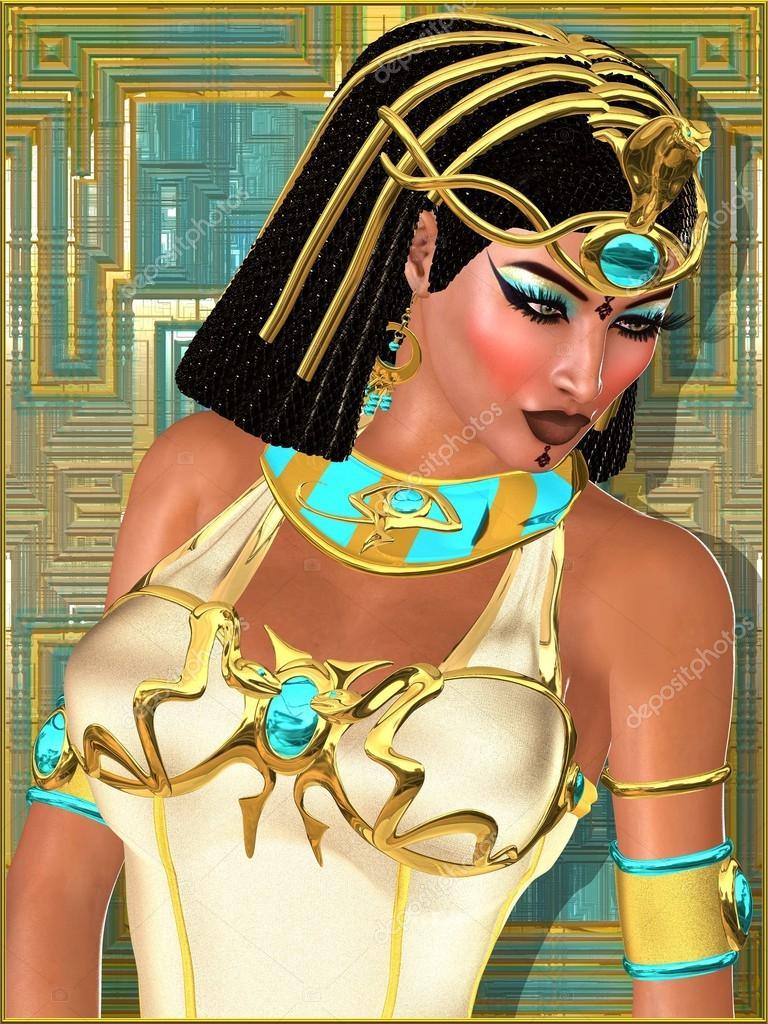 69f5df5fd697 Zblízka obličej krásné egyptská princezna na abstraktní zlato a tyrkysová  pozadí — Stock fotografie