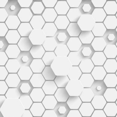 Paper hexagon background