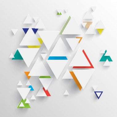 Triangle background for advertising