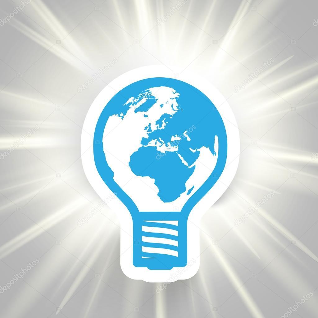 Earth bulb shining