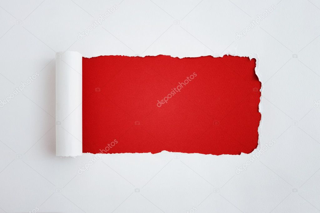 Torn white paper with space for text