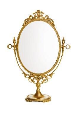 Golden antique mirror