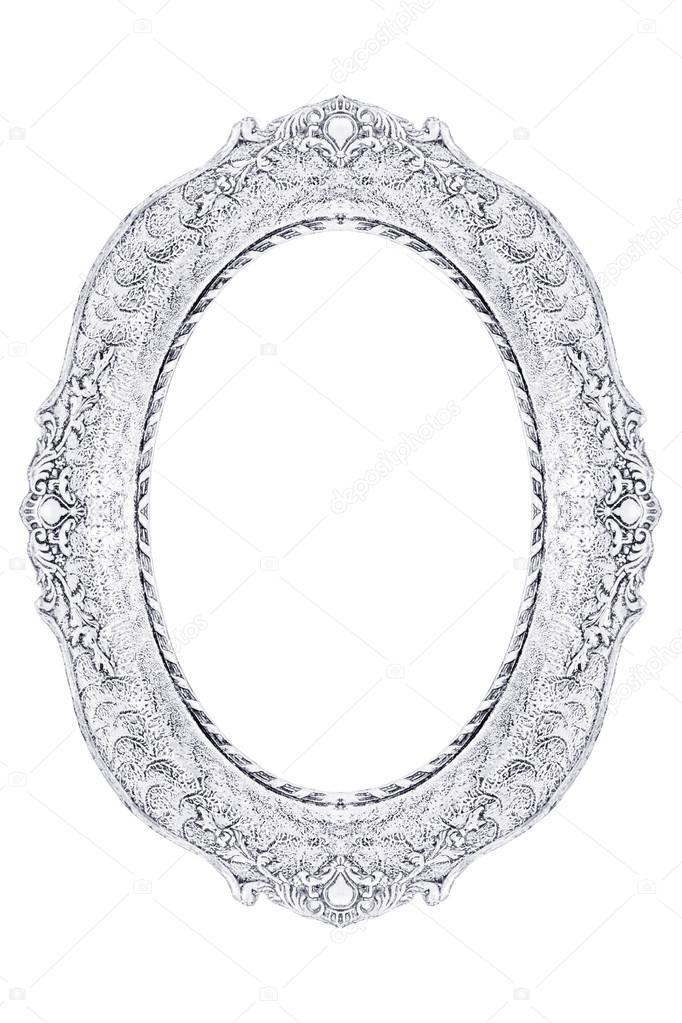 marco blanco adornado vintage — Fotos de Stock © wabeno #33828417