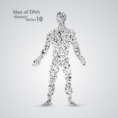 Molecular structure in the form of man