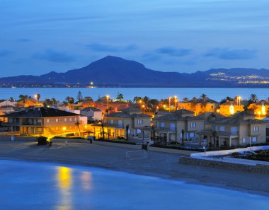 view of la Manga del Mar Menor at night